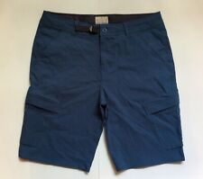 "ORIGINAL WEATHERPROOF VINTAGE MENS BLUE 34"" CARGO SHORT 6 POCKET 10-3/4"" INSEAM"