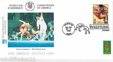 1996**FDC 1°JOUR**COMITE INTERNATIONAL OLYMPIQUE-LUTTE-ATLANTA*TIMBRE USA