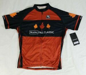Bicycling Fall Classic Giordana Cycling Jersey Full Zip Mens SS Euro Fit XXL NWT