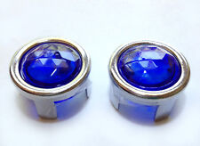 Pontiac Blue Dot Tail Light Bulb Lamp Lenses Hot Rod Chrome Bezel Ring 1157 NOS