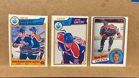 Lot of 3 OPC O-Pee-Chee 1980's Wayne Gretzky cards 1983-84 #23, #29 1984-85 #243