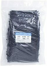Ecrab Zip Ties 4 Inch Bulk 1000 Pack Small Clear Cable Ties 18lb Self-Locking Ny