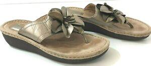 CLARKS Artisan Latina Samba Womens 7.5M Sandals Leather Upper