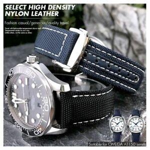 19 20 mm Woven Nylon Watch Band Strap For Omega Seamaster 300 Aqua TERRA