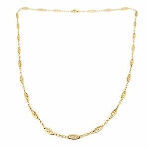 Collier ancien filigrane or jaune 18 carats