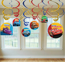 Disney Cars 12 pieces Swirl Decorations Happy Birthday Party Supply Favor Prizes