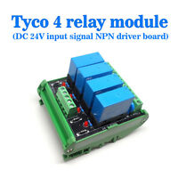 OEG DC 24V 4 Channel Relay Module Four panels Driver Board Socket NPN