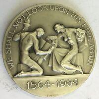William Shakespeare 400th Anniversary Silver Medallion P Vincze 82.8g 5.5cm