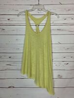 Free People We The Free Women's L Large Yellow Sleeveless Tunic Top Tank Shirt
