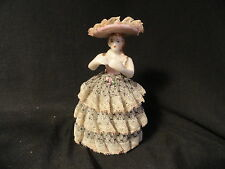 Royal Japan Handpainted Dresden Lady Figure Lace