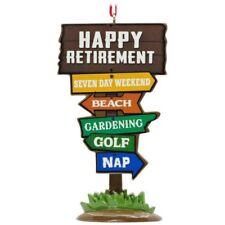 "Hallmark ~""Happy Retirement""~  Christmas Tree Ornament~#1HGO1440~ Not Dated ~NWT"