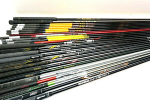 Large Lot of USED golf club shafts - Mixed sizes, flex and brands