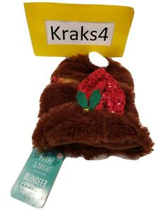 Merry & Bright *Extra Small* Dog Holiday Reindeer Coat NEW