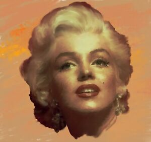Marilyn Monroe Original Painting portrait in acrylic on canvas by Brian Tones