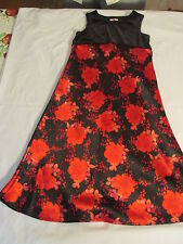 Girl's red and black flower design dress sz 4 by New Legends