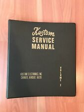 Kustom Authorized Dealer 1970s 3 Ring Binder Guitar Amp Music Bass