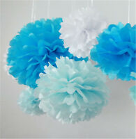 Paper Pompoms Flower Ball Wedding Birthday Christening Home Decor Party Supplies