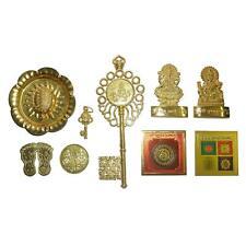 Shree Kuber Dhan Laxmi Varsha Complete Kit with Brass Yantra