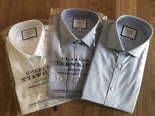 3 x Brand New Charles Tyrwhitt Mens shirts extra slim fit non iron 16/35 inch