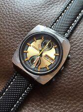 Vintage Citizen Monaco GN-4-S Automatic Mens Chronograph Watch 37mm PVD
