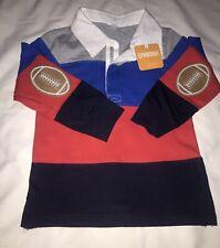 Gymboree Toddler Boy Long Sleeve Football Polo Striped 3T NWT