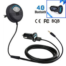 Car Noise Cancelling Bluetooth Handsfree Car Kit on Car Air Vent AUX led charger
