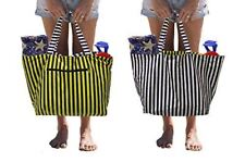 Earthwise Tyvek REVERSIBLE Travel Bag Shopping Beach Pool Tote FOLDABLE Cosmetic