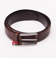 NWT $795 BRIONI Brown Genuine Lizard Leather Dress Belt 42 W Silver Buckle