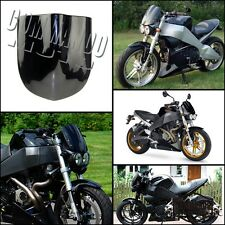 Universal Moto Bull Windscreen For Ducati Yamaha Honda Ktm Street Fighter Black