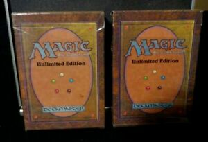 Mtg Empty Unlimited Starter box with rule book X 2