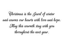 Christmas is the Jewel of winter UNMOUNTED rubber stamp, holiday sentiment #24