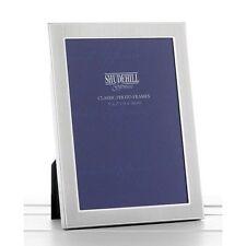 """Satin Silver Photo Frame Home Room Decorations Decor Landscape Portrait  5""""x7"""""""