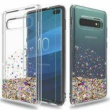 Samsung Galaxy S10+ Plus Case Shockproof Glitter Cover with HD Screen Protector
