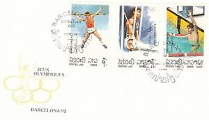 Laos 1989 Barcelona Olympic Games FDC Unadressed VGC