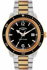 Rotary GB02695/04 Ocean Avenger 2 Tone Bracelet Waterproof Gents Watch RRP £185.