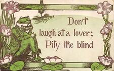 Frog Dressed Animal Romance Comic Postcard 1911