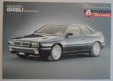 MASERATI GHIBLI orig 1994 1995 UK Mkt Sales Leaflet Brochure in English