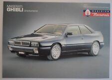 MASERATI GHIBLI orig 1994 1995 UK Mkt Sales Leaflet Brochure in English