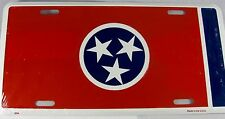 TENNESSEE FLAG METAL LICENSE PLATE TN STATE SIGN L210