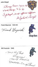 1945 Milt Vucinich Chicago Bears Football Signed Index Card Stanford Deceased