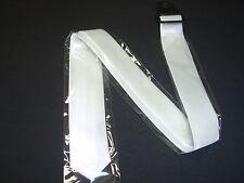 1920's White Skinny Neck Ties Tie Neckties Gangster Retro Wedding Costume