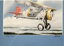 Uwe Feist Aviation Art - Boeing F4 B-3 Vintage Print - NEW in Shrink Wrap/Signed