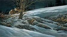 Terry Redlin Catching the Scent  Wolf Print 28 x 16.25   Plus Borders