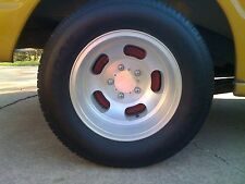 "Fits Ansen Aluminum Slot Wheels Flat Center Block-off Caps 2 7/16"" Pattern 2 Pac"