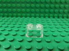 20 x Lego Trans Clear 1 x 2 Brick No.3065 Without Bottom Tube
