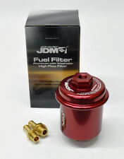 Universal Honda Acura JDM Sport High Flow Fuel Filter Performance Racing RED