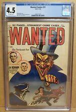 WANTED COMICS #31 CGC 4.5 (VG+) CLASSIC DEVIL NOOSE COVER 1950 CRIME HORROR RARE