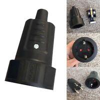 Schukokupplung IP44 16A 250V VDE Gummi Kupplung 3pol Schutzkontakt DE