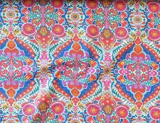 """(Grundpreis: 8,00 €/m) Baumwolle """"Blumen"""" lila/orange/türkis, 0,25m, (5,52 €/m²)"""