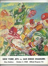 10/5/1968 San Diego Chargers vs New York Jets Program near mint (see scan)